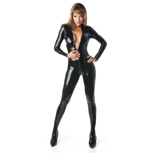 Front Zip Matrix Catsuit