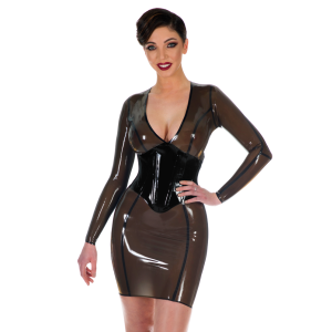 V-neck Corset Dress (Long Sleeves)
