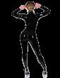 PETITE Princess Catsuit (no feet, front zip)