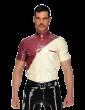 Diagonal Button Shirt (Short Sleeves)