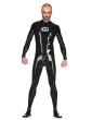 Latex Neo Catsuit with Back zip for Men