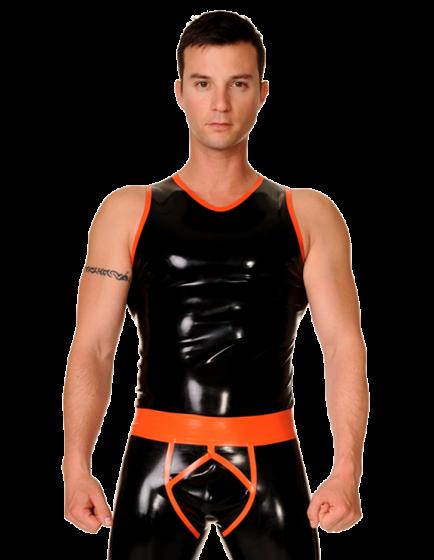 Clubber Vest with Trim
