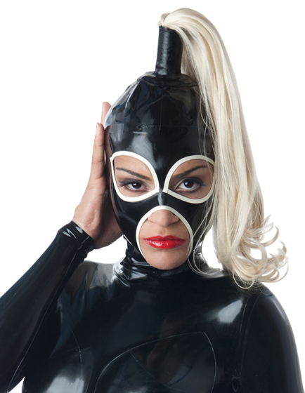 Heroine Hood with Single Ponytail