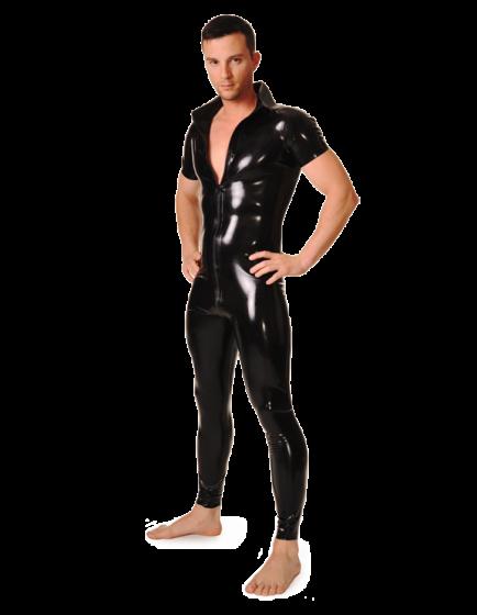 Latex Neo Shirt Collar Catsuit for Men