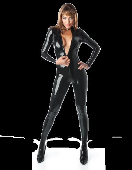 Front Zip Matrix Catsuit