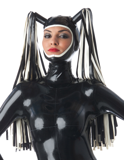 Open Face Hood with Double Streamer