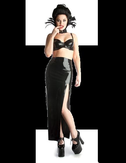 Nicole Long Split Skirt