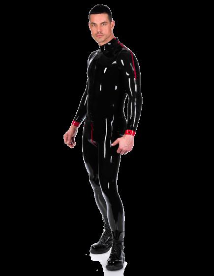 Contrast Shoulder Zip Catsuit