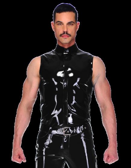 Sleeveless Button Shirt