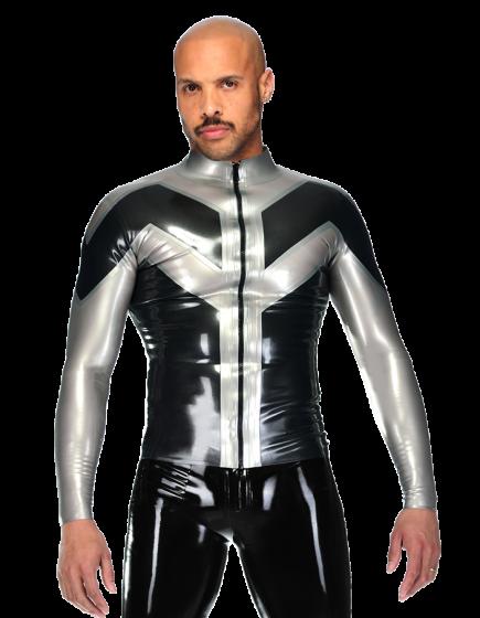 ZigZag Zipper Top (Long Sleeves)