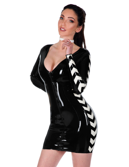Chevron Dress (long sleeves)