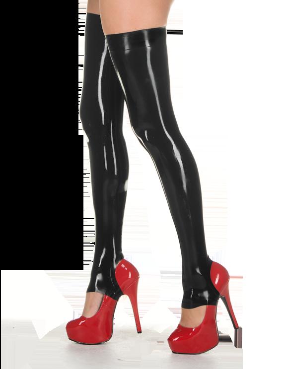 Latex stockings with stirrups