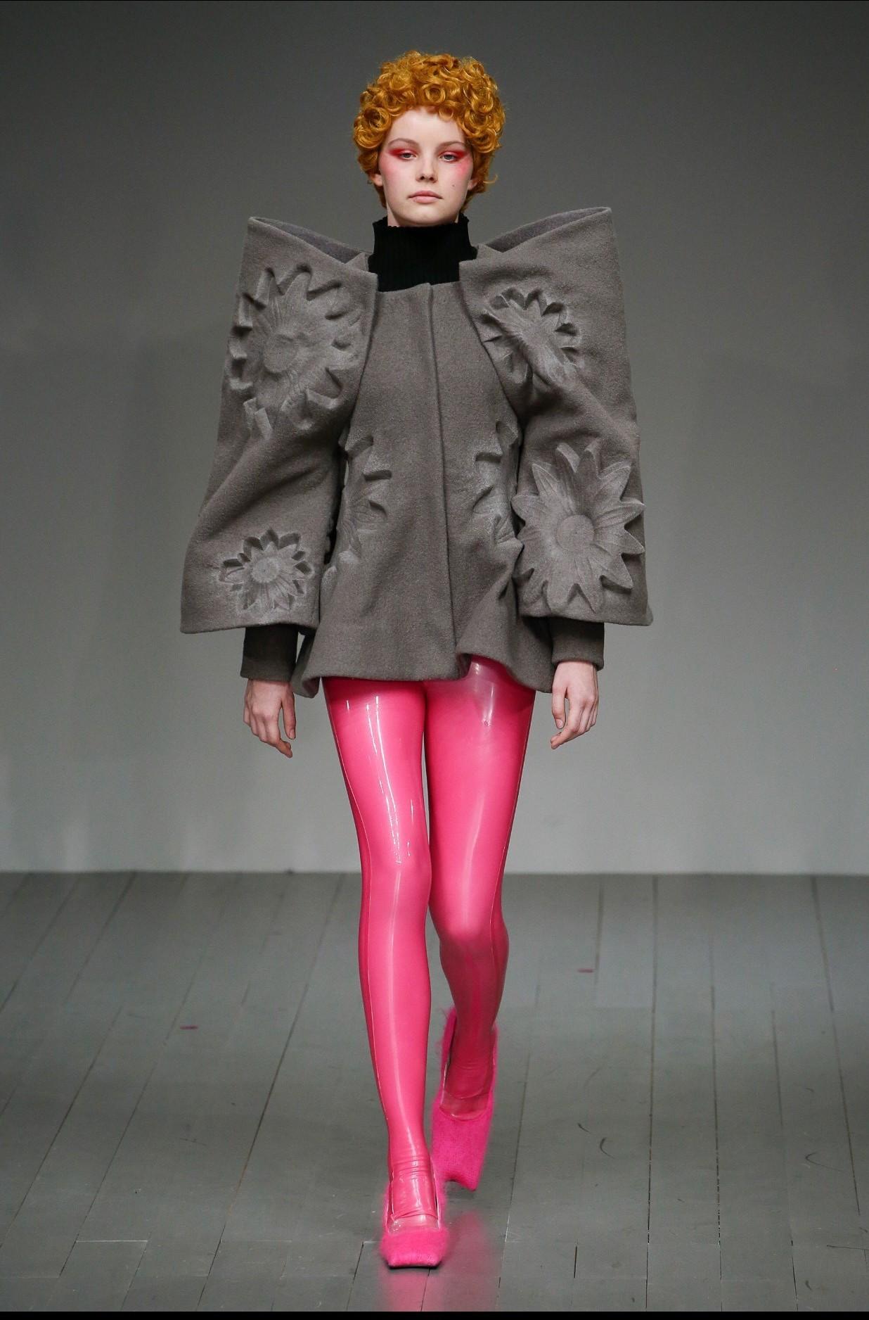 Libidex Leggings featured in the Central Saint Martin London Fashion week graduation Show.